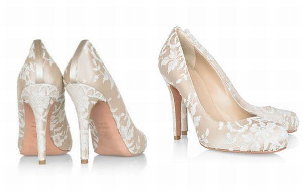 Туфли под свадебное атласное платье