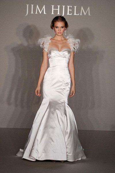 Свадебное Платье С Элементами Перьями 2