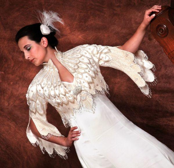 Свадебное Платье С Элементами Перьями 74